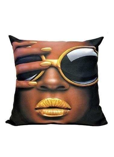 Alla Turca Dekoratif Kırlent Kılıfı-Sunglasses Renkli